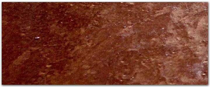 Metallic brown garage floor coating - metal pigment