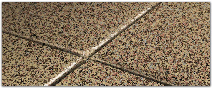 Terrazzo garage floor - Decorative Chips